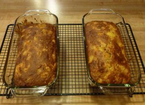 Two loaves of Dried Apricot-Pecan Bread from The Best Quick Breads (2000) by Beth Hensperger