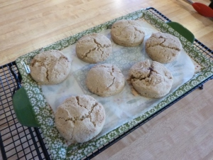 oat scones fresh from the oven
