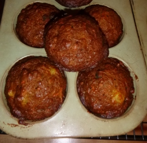 Morning Glory Muffins made from the original recipe by Chef Pam McKinstry.