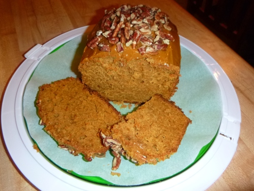 sliced sweet potato bread